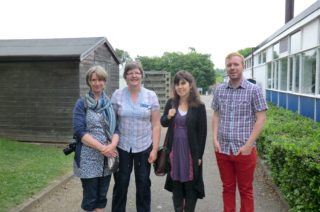 Left to Right: Victoria, Janet, Sarah, Colin.